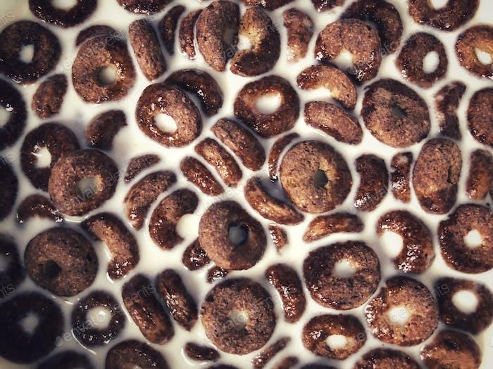 Chocolate cereals for breakfast
