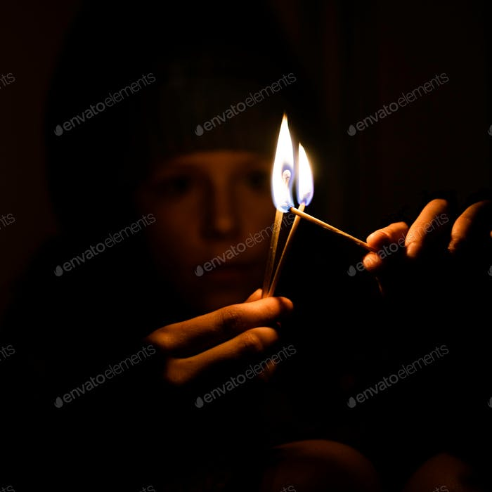 Lighting matches with matches