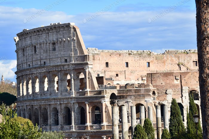 Colosseum in Rome. Tourism attractions