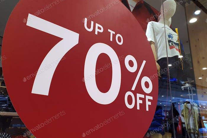 Verkauf und Promotion von Shopping-Mall