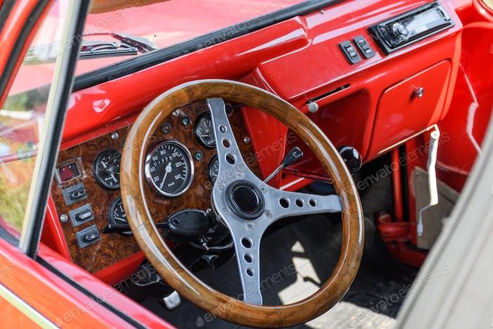 Red car dash