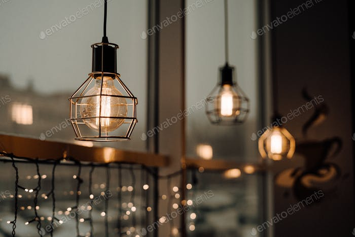 beautiful lamps / light / illuminated/ interior design/ evening