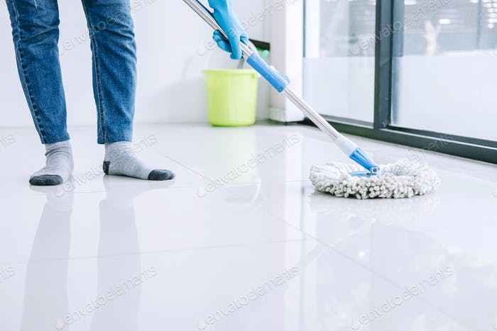 Housekeeping and cleaning concept
