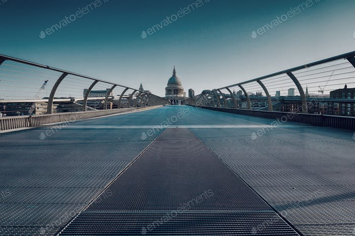 Milennium Bridge towards St Pauls, London.