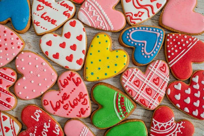 gebacken, Bäckerei, Geburtstag, Keks, Kuchen, Karte, Feier, Weihnachten, Cookie, paar, dekoriert, Dez