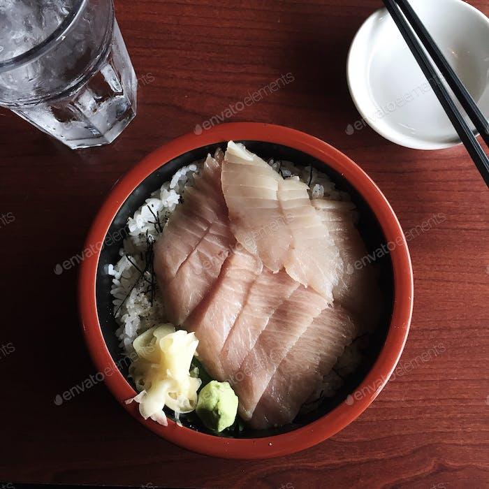 Toro don. Fatty tuna over rice