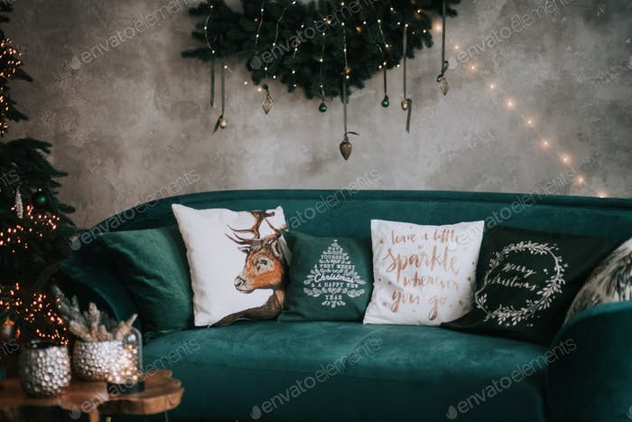 christmas winter festive loft style interior decor