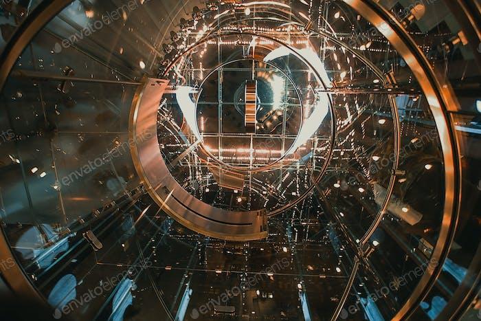 Inside a spaceship