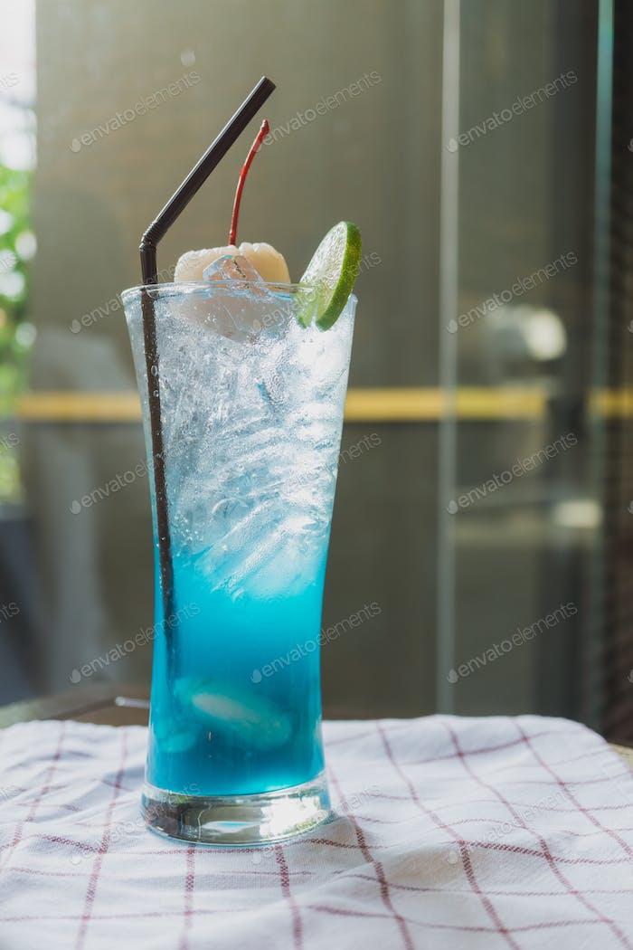 Blue lychee soda