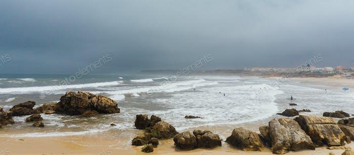 Gloomy day at the beach