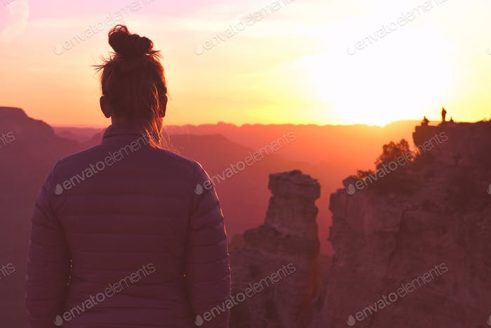 looking at the sunrise