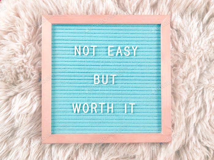 Nicht einfach aber es lohnt sich