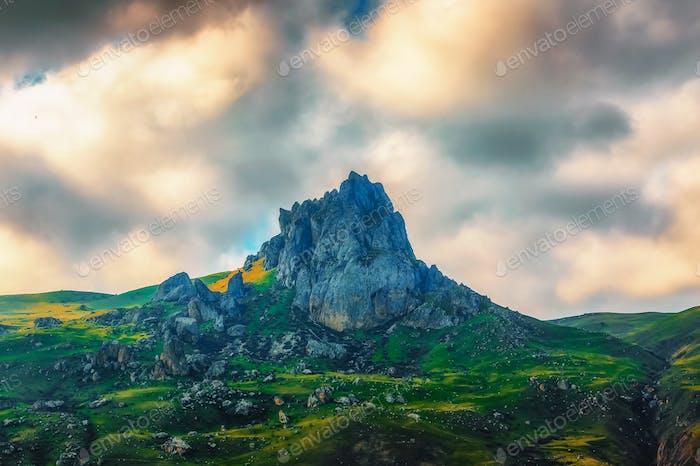 Besh Barmag Mountain, Azerbaijan.