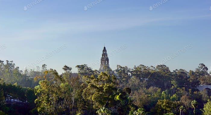 San Diego Museum of Man tower in Balboa Park, San Diego California