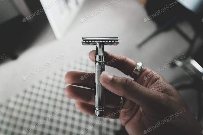 Chrome safety razor