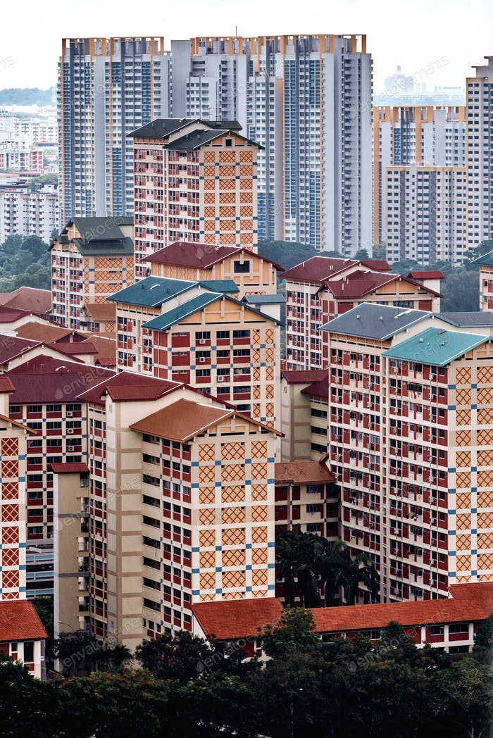 Sticking out. Did you know that about 80% of Singaporeans live in HDB (government-built) Flats?