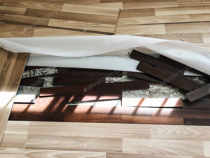 Flooring broken or damaged