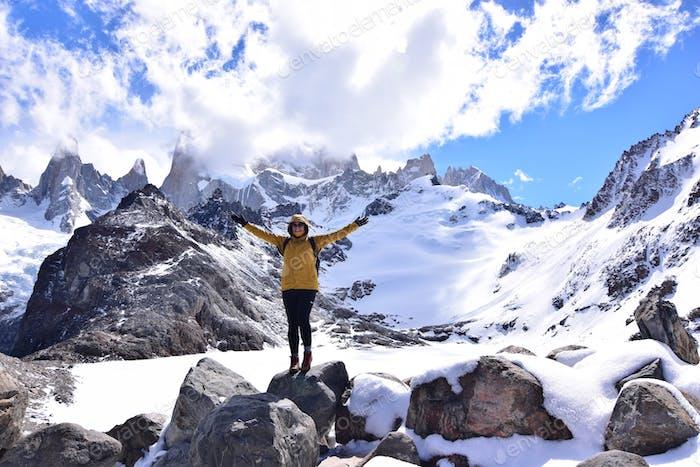 Nach Abschluss der Laguna Los Tres Wanderung zum Fuß des Mt