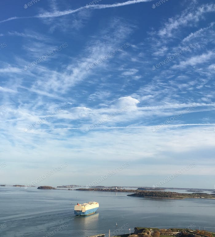 Ship in Boston Harbor