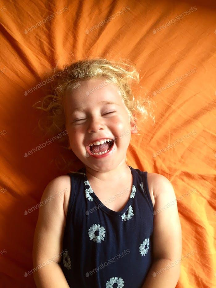 Cute toddler laugh
