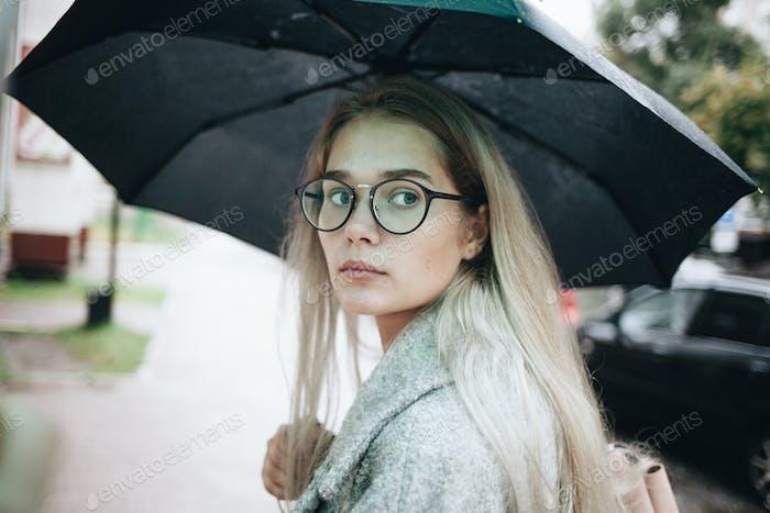 Regenschirm Stimmung