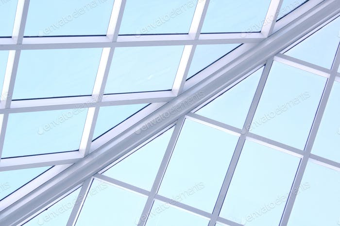Ceiling windows in a glasshouse