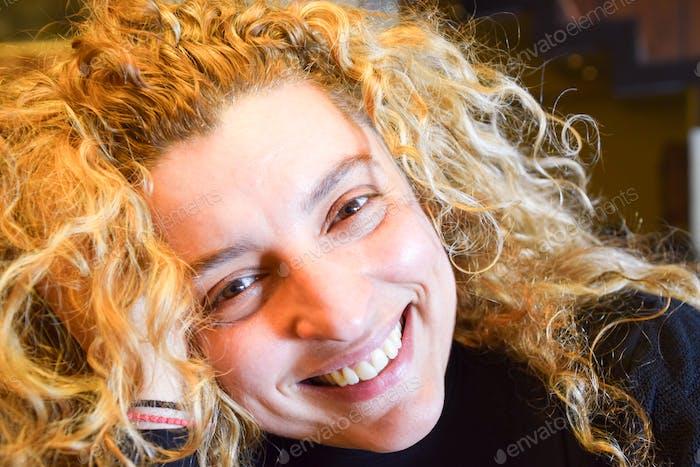 Beautiful Happy Smiling Blonde Woman
