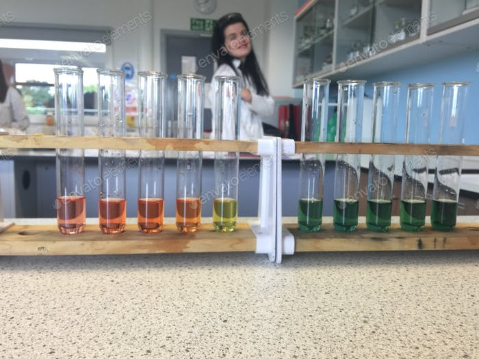 pH scale experiment in chemistry featuring the beautiful lily currie right there