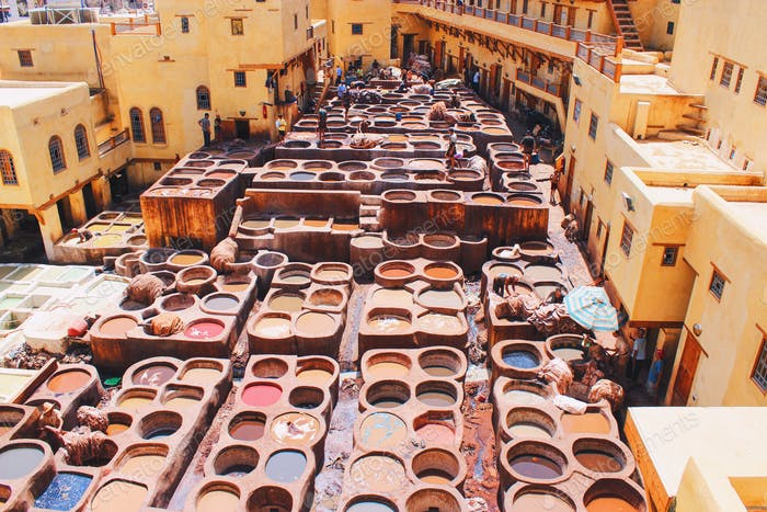Tannery in Morocco