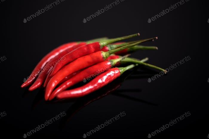 Fresh chilli red pigment, fresh pepper background