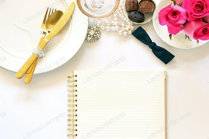 Fancy dinner menu