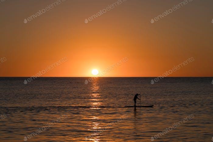 Goldene Stunde Sonnenuntergang Eigelb