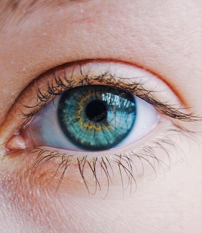 Primer plano del ojo humano