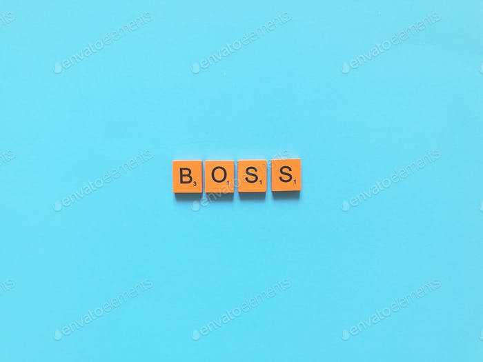 Boss. Scrabble. Scrabbles. Scrabble letters. Scrabble words. Scrabble tiles.