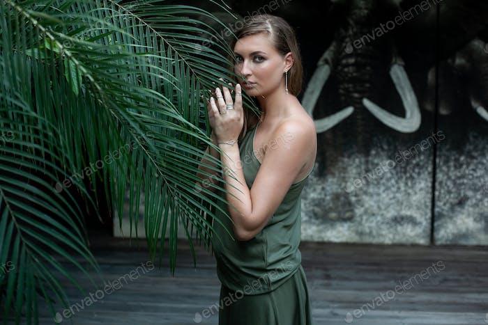 tropiacal female portrait