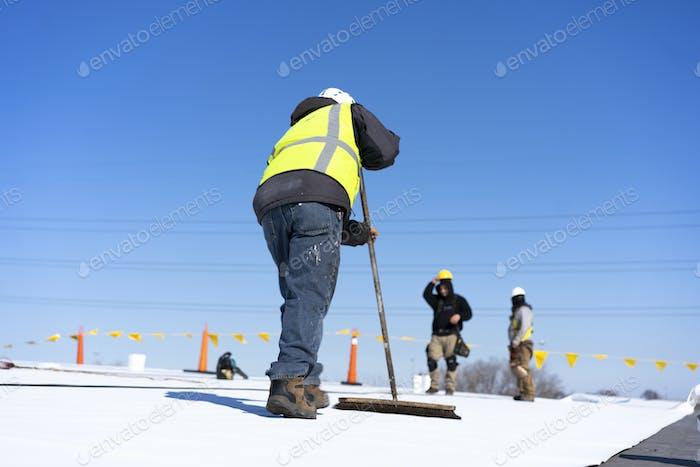 Installing flat roof