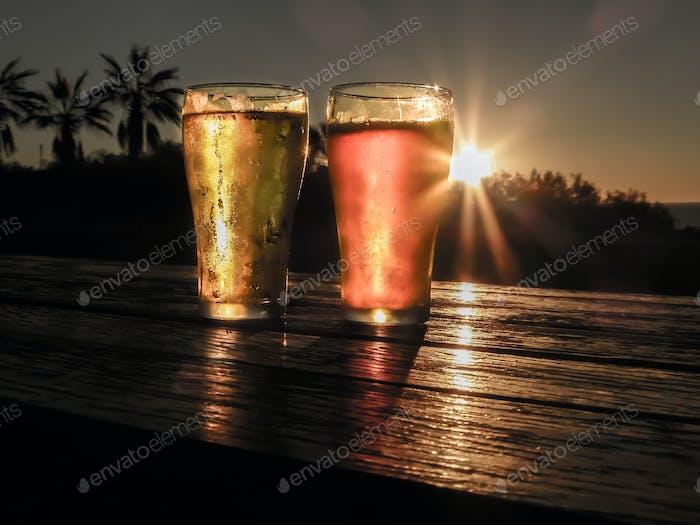 Sunset refreshments