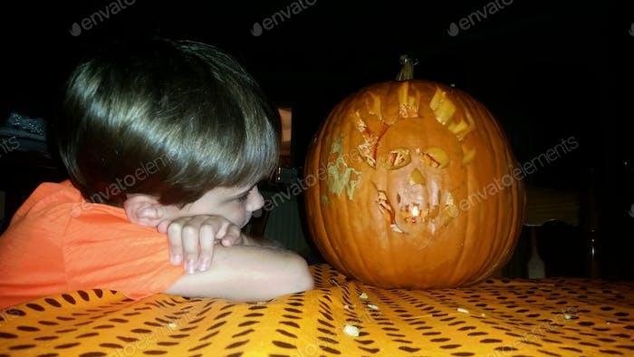 Welche strahlenden Augen haben Sie Mr. Pumpkinhead...