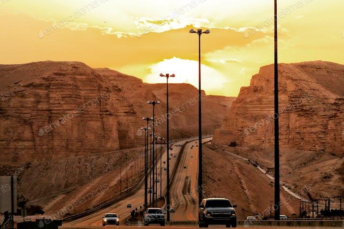 A morning snap from Riyadh - Jeddah Road, Kingdom of Saudi Arabia.