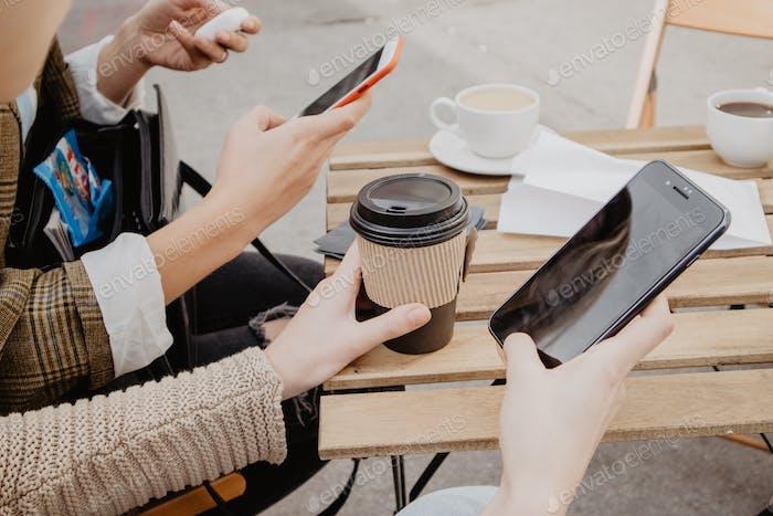 Millennials using mobiles