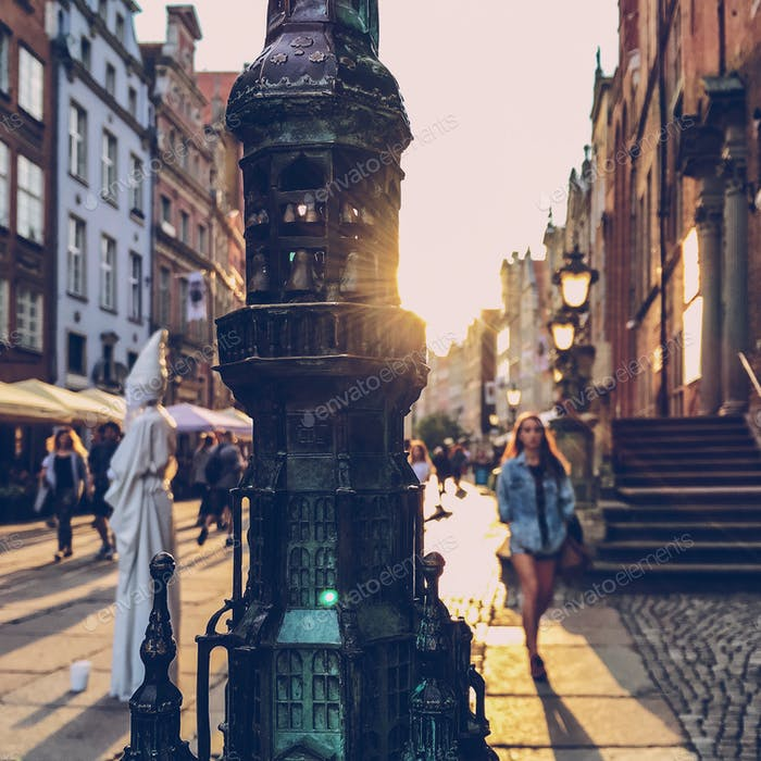 golden hour in Gdansk