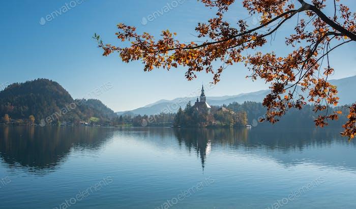 Lake Bled in autumn season