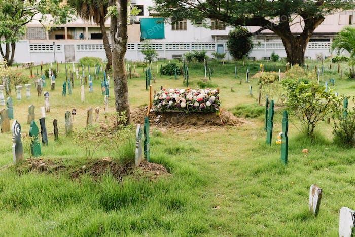 Muslim graveyard Islamic funeral