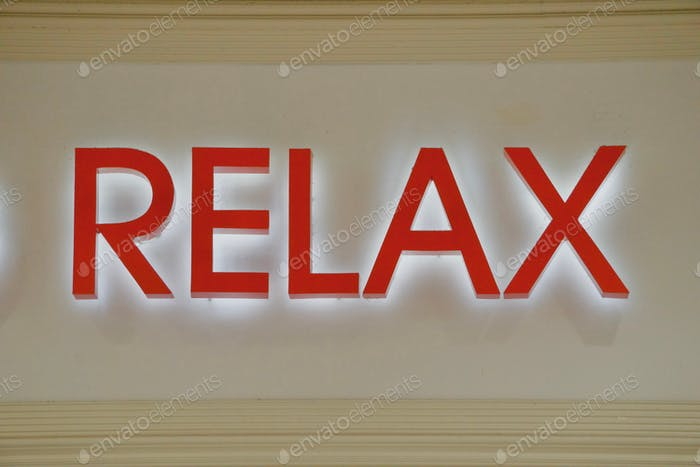 RELAX:  Word relaxed