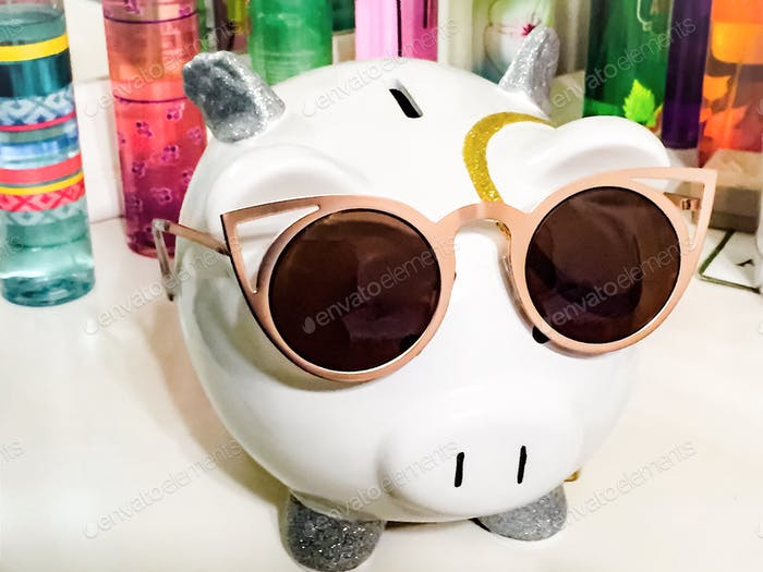 Saving up for a sunny destination vacation; Sweet smell of saved money & fragrances; Sunny Day Fund;