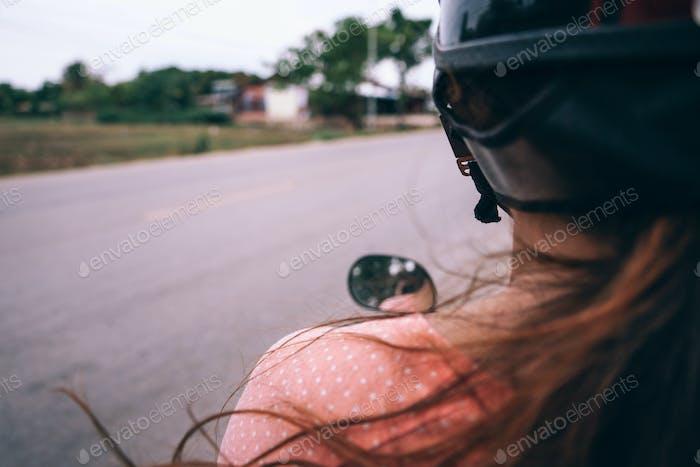 Cambodian Motorbike Girl