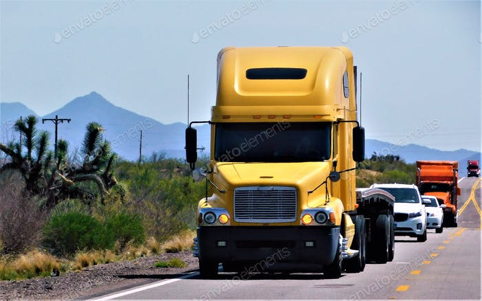 TRUCKING!! Big Rigs on a Rural Road!