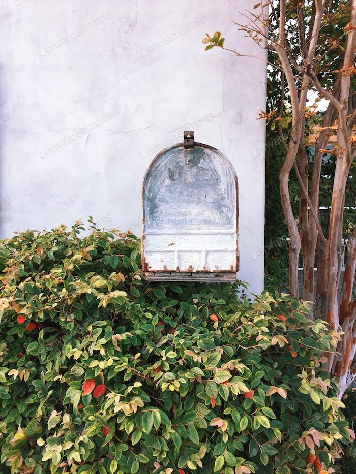 Rusty mailbox in Newport Beach, California