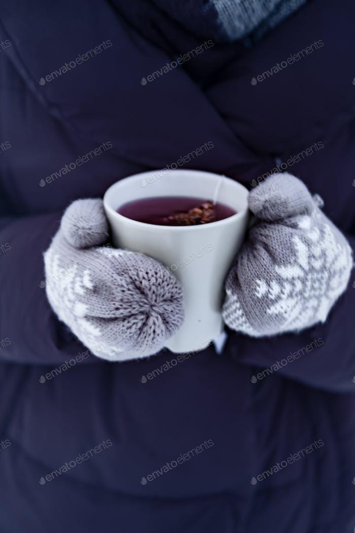 Heiße Wintergetränke