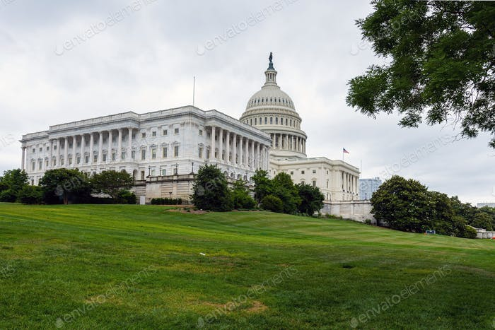 Washington DC, USA, The United States Capitol view from the street
